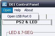 DE1 CONTROL PANEL (step 1)